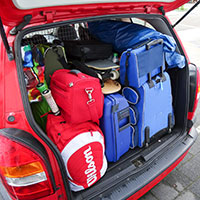 車に積んだ荷物