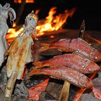 焼きイカと焼き魚