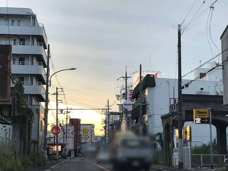 大阪府 切れてる線路(とある日の街並み)